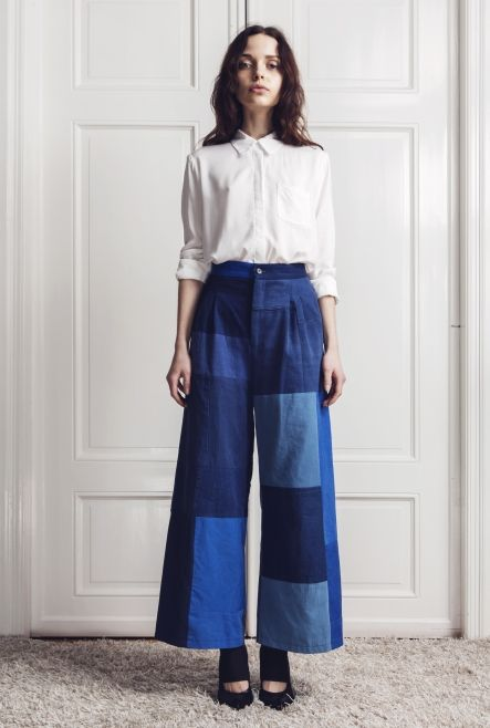 Rodebjer killing it with patchwork flared denim.