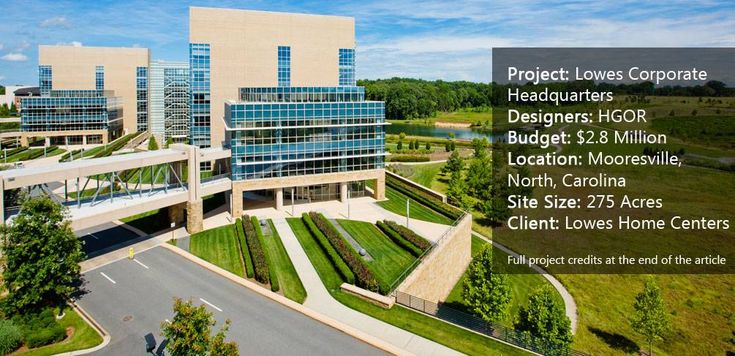 Lowes Corporate Headquarters, by HGOR and LandDesign, in Mooresville, North Carolina.