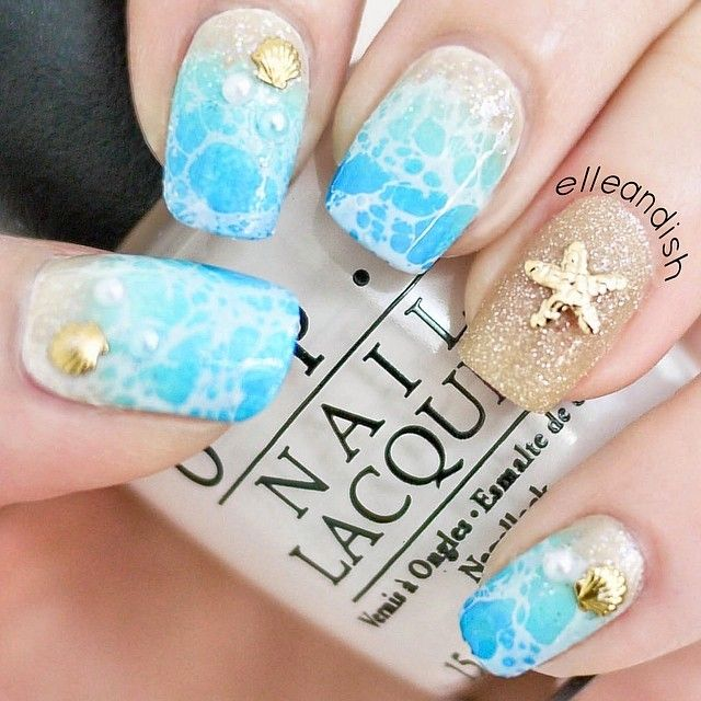 Ocean and Beach Nails via
