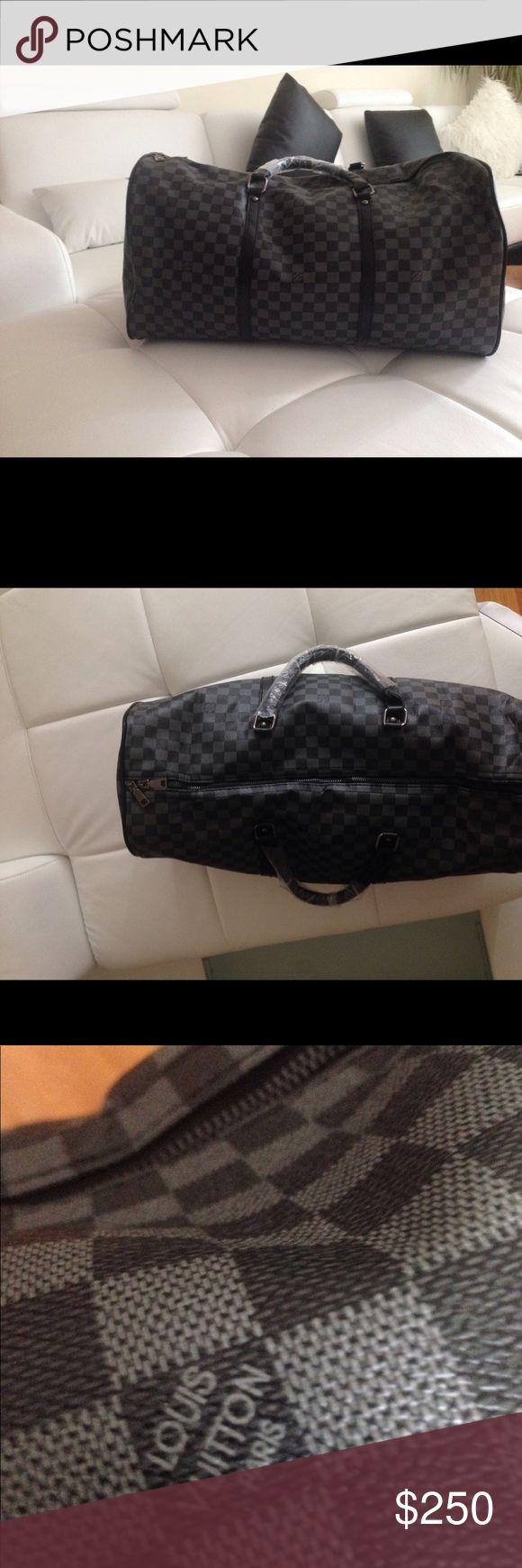 Louis Vuitton duffel bag brand new This Louis Vuitton duffel bag is brand new, the strap for it is not the best but it does the job, I will ship out the same day and make sure that the packaging is 100% neat and correct,this duffle bag is a REP, thank you Louis Vuitton Bags