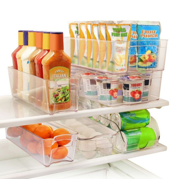 stackable refrigerator storage containers