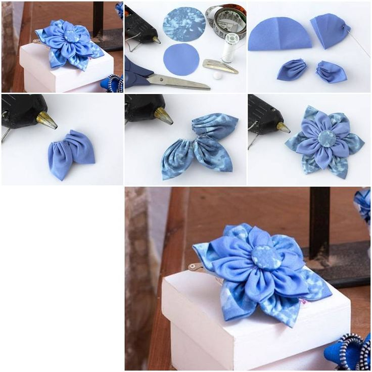 How To Make Beautiful Cloth Flower Step By DIY Tutorial Instructions