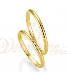 Βέρες γάμου χρυσές με διαμάντι breuning 4305-4306