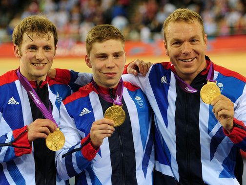 Kenny, Hindes and Hoy: Gold medal winners  Sir Chris Hoy has won a fifth Olympic gold after Great Britain's men's team sprint squad triumphed on a night of high drama at the London 2012 Olympic Velodrome.