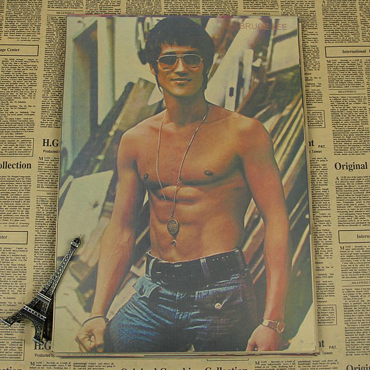 Bruce Lee Poster  kraft paper movie bedroom painting/Kraft Poster/Wall sticker