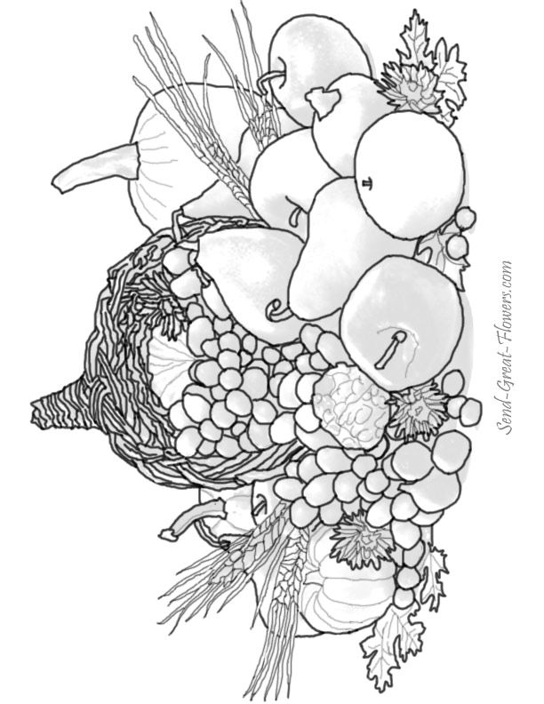 hard coloring pages for thanksgiving - photo#26