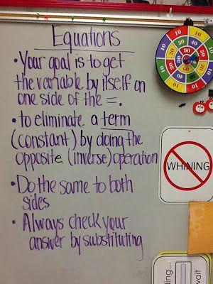 Mrs. White's 6th Grade Math Blog: SOLVING ALGEBRAIC EQUATIONS - ADDITION