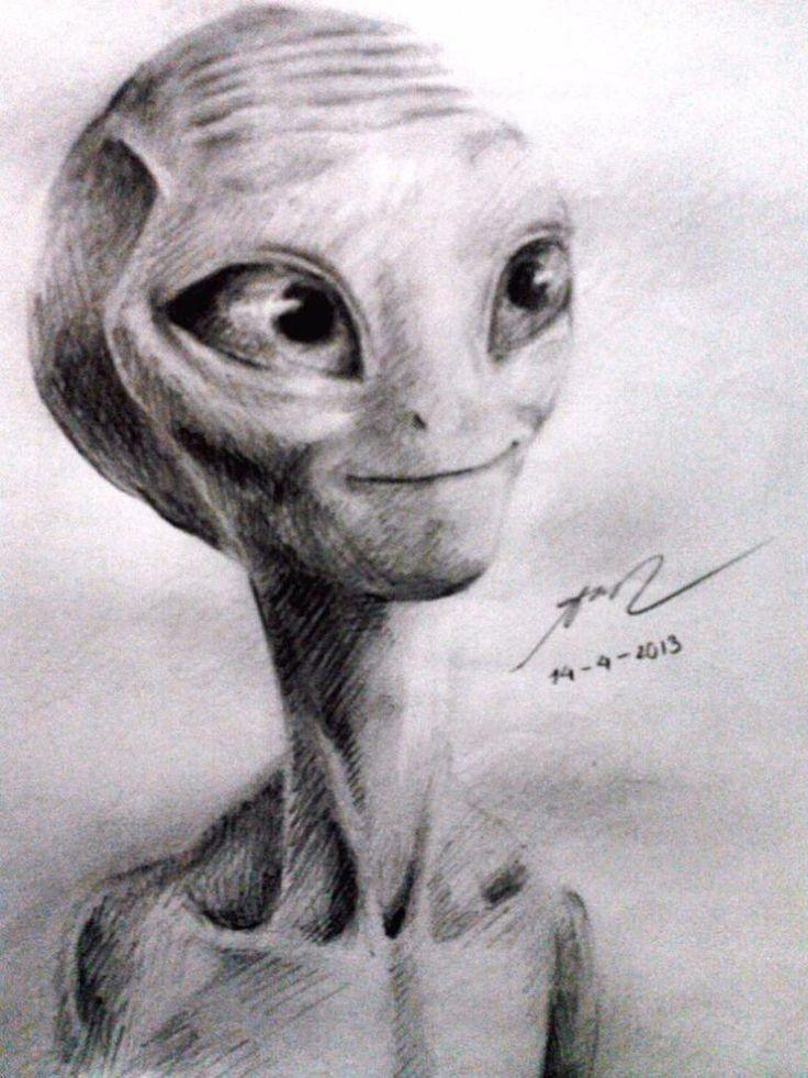 Pin De Txusa Fernandez Mendez En Grafitoytinta Arte Alien Dibujos Paul Extraterrestre