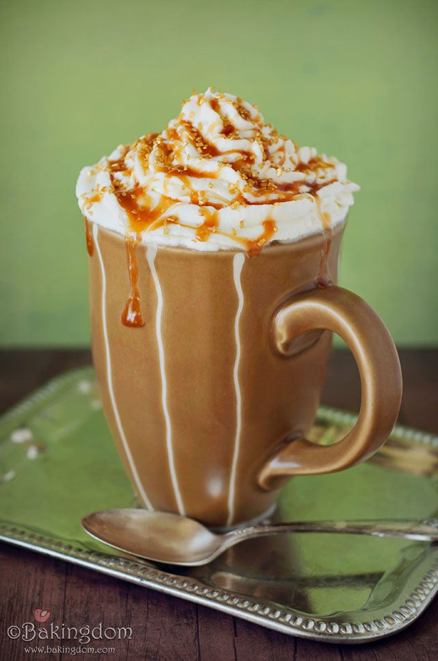 Salted Caramel Latte --- my favorite drink at Starbucks, so you can bet I'll be trying the latte, frappuccino, AND cupcake recipes from this site!
