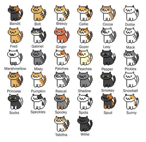 neko atsume cats names - Google Search