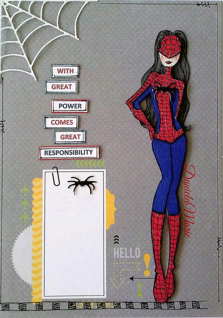 Marisol doll <3 By Daniela Alvarado. Spiderman inspired journal page.