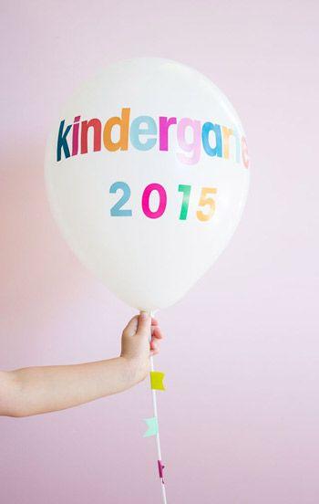 DIY Back to School Balloons