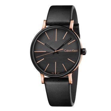 K7Y21TCZ Ανδρικό ελβετικό ρολόι CALVIN KLEIN Boo με μαύρο δερμάτινο λουρί και μαύρο καντράν | Ρολόγια CK ΤΣΑΛΔΑΡΗΣ στο Χαλάνδρι #Calvin #Klein #boo #μαυρο #λουρι #ρολοι