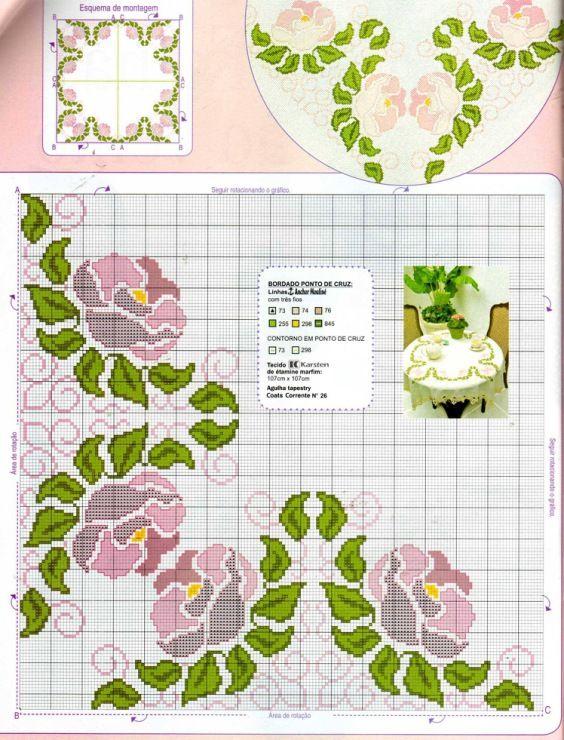 Jugendstil Kreuzstich cross stitch -  free pattern Gallery.ru / Фото #130 - кайма бордюры - irisha-ira