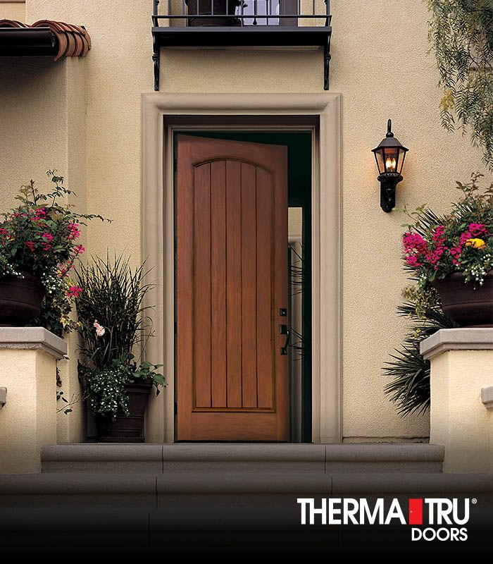Therma tru 8 39 0 classic craft rustic collection fiberglass for Therma tru front door