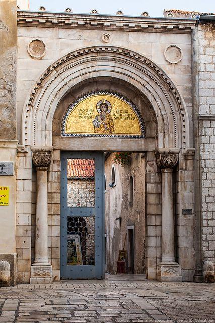 Entrance to Euphrasian Basilica, Porec, Croatia