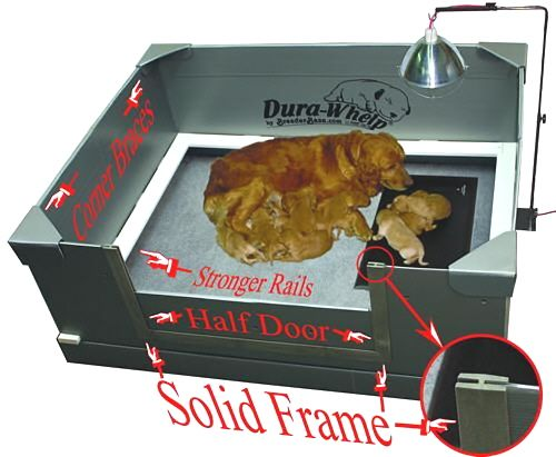 """Whelping Boxes"" Dura-Whelp® the Original PROFESSIONAL whelping box."