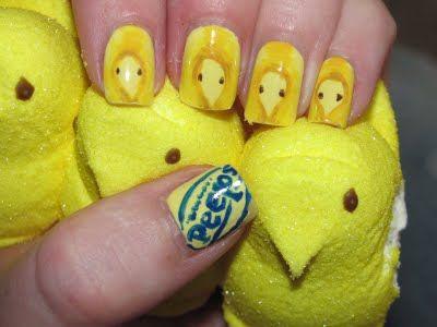 peeps. Nails deco