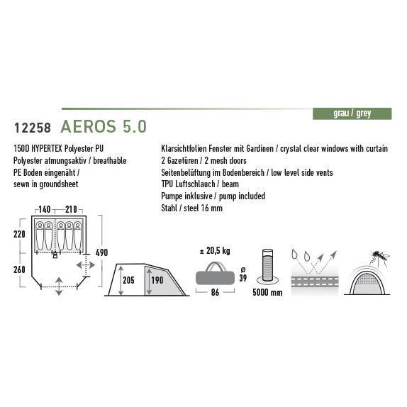 High Peak Aeros 5.0 Campingzelt online kaufen | doorout