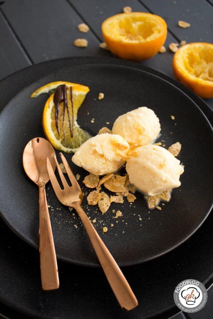Orangen-Eiscreme