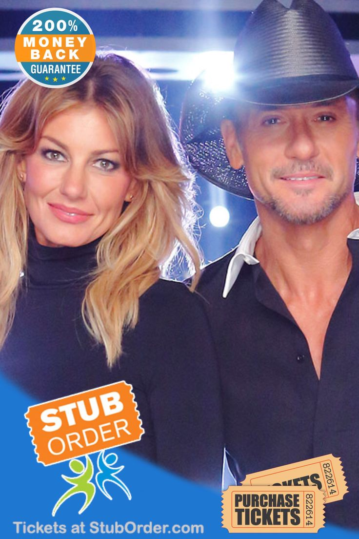 #TimMcgraw and #FaithHill tickets are on sale on our website at: https://www.stuborder.com/tim-mcgraw-tickets.aspx