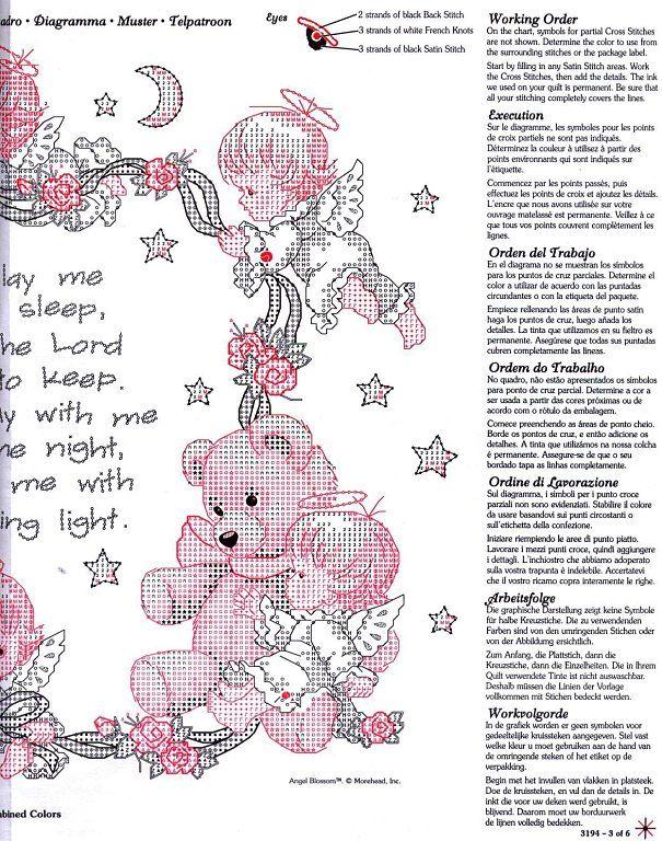 Cross-stitch Now I Lay Me Down to Sleep, part 2.. color chart on part 1...   Solo Patrones Punto Cruz | Aprender manualidades es facilisimo.com