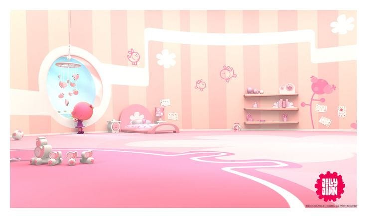 Carlos Tschuschke. Interior l , for Jelly Jamm, spanish tv show. Almost all texturing : Elaine Lugo. Design : Salba Combé.