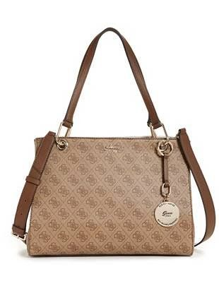 1af85f3d0b0b Jacqui Monogram Satchel   shop.GUESS.com   GUESS   Accessorize in ...