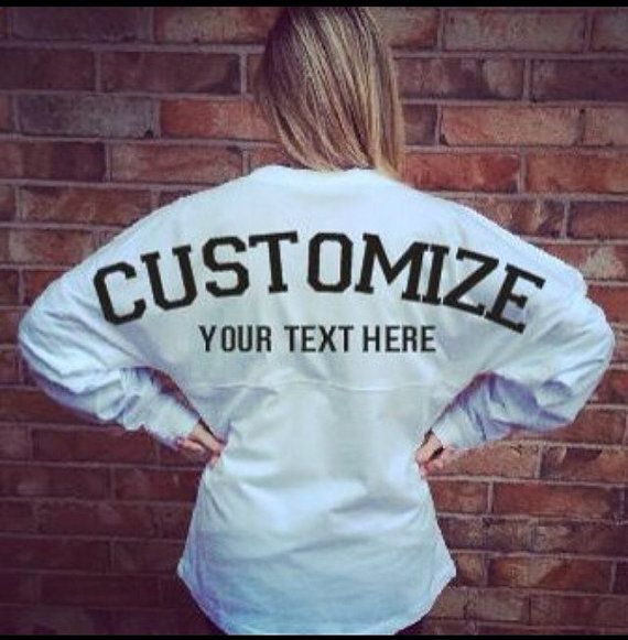 Oversized Jersey customized just for you! You choose the color and text! So adorable!!!  When purchasing list in the comment section what you