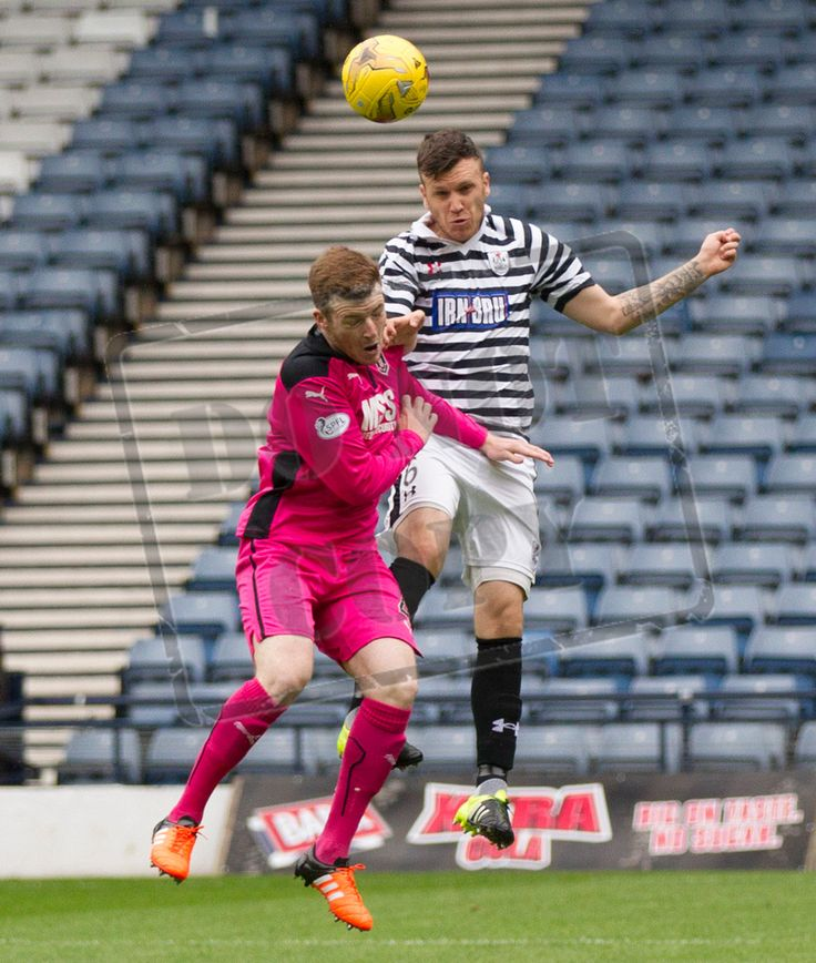 Queen's Park's Adam Cummins in action during the Ladbrokes League One game between Queen's Park and Airdrieonians.