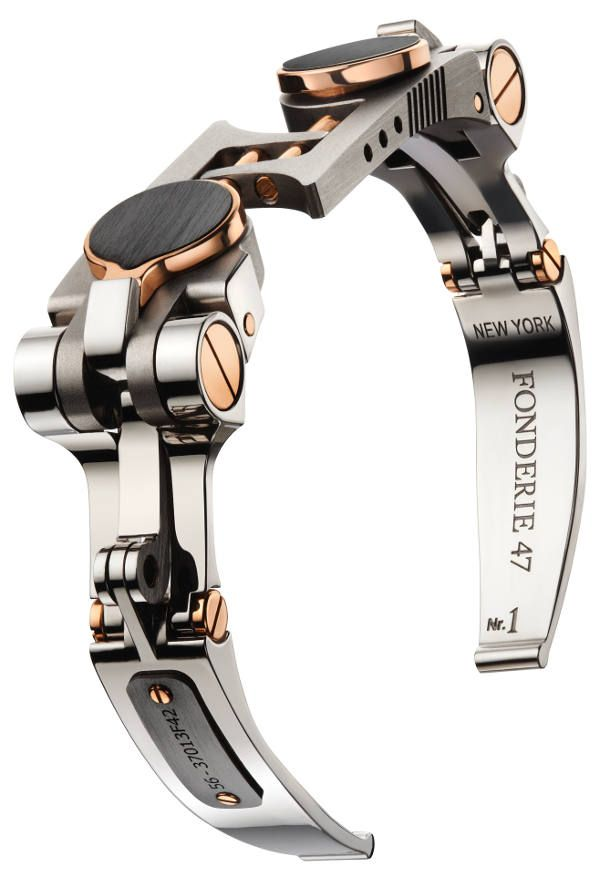 Fonderie 47 Transforming Cufflinks - Possibly the coolest men's jewelry ever made. The cufflinks can be linked together to make a men's bracelet. But more impressively, and as the name vaguely alludes to, these cufflinks are made from melted-down AK-47 assault rifles confiscated from Africa in an attempt to make the world a more livable place.