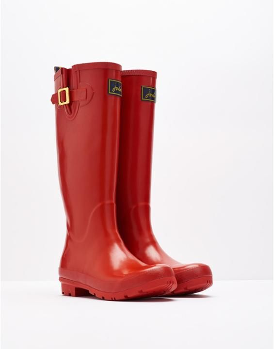FIELDWELYGL Womens Glossy Red Wellies