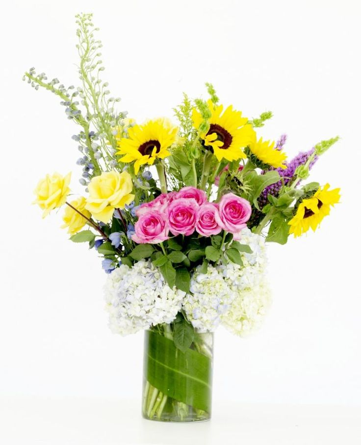 Gathered Arrangement in Cylinder : Michigan Florist : Upscale floral delivery to the entire Metro Detroit area.