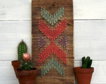 Teal & Mint Mini Hearts String Art Sign Heart by LoveArtSoul11