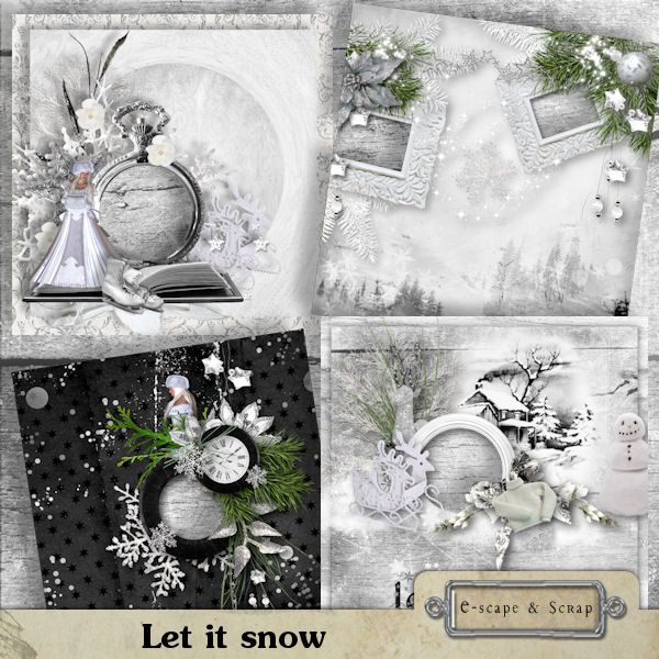Let it snow - quick pages by Black Lady Designs
