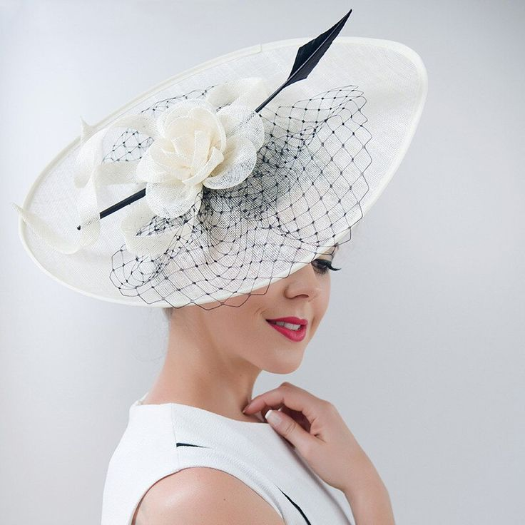 ShanFu Vintage Elegant Linen Headwear Sinamay Fascinator Hats Feather Netting Headpiece Fashion Cocktail Hat Hair Accessories