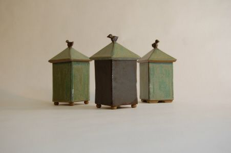 kristi rowland little boxes ceramic
