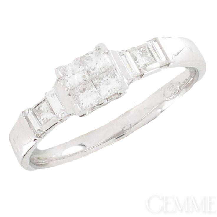 Assez Les 25 meilleures idées de la catégorie Bagues diamants baguette  FH36