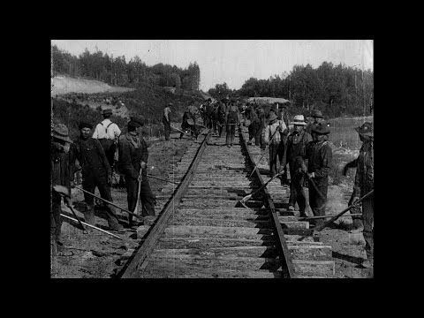 (25) The Building of a Transcontinental Railway in Canada: [extract]  (1910) - YouTube