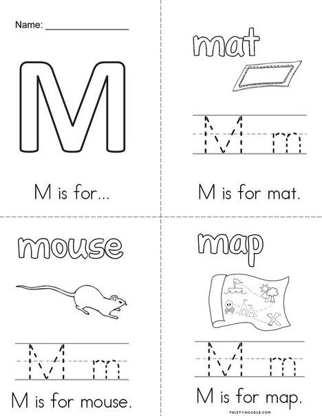 m is for book from letter coloring pages worksheets and mini books. Black Bedroom Furniture Sets. Home Design Ideas