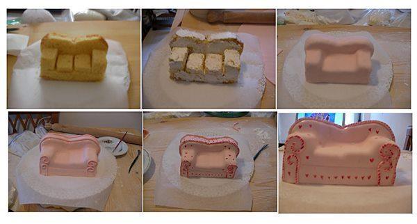 How To Make A Sofa Cake Tutorial Via Every Curl A Mess Fb