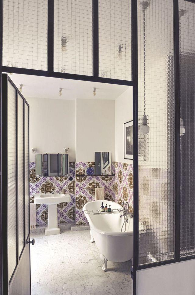 14 best salle de bains images on Pinterest Bathroom, Mosaics and - pose carrelage mural salle de bain