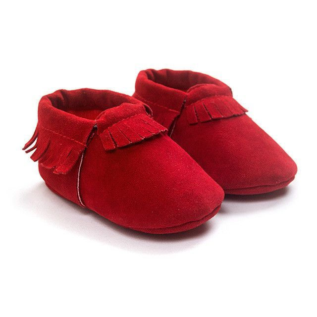 Soft Suede Leather Newborn Baby Boy/ Girl Shoes