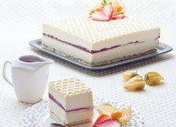 Crémeux Yaourt/Chocolat blanc, Sabayon Mascarpone & Framboise gélifiée
