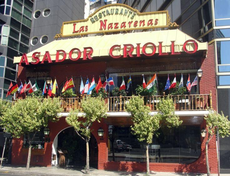 Las Nazarenas es un asador criollo y parrilla del barrio de Retiro, que se inauguró en 1981.  Los rasgos llamativos de su salón son las arañas de hierro forjado, los arreos de campo y las antiguas sillas de cuero repujado, estilo castellano.