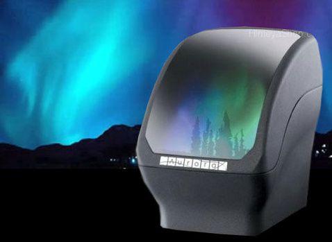 Battery-Powered Aurora Light Projector Simulates Northern Lights