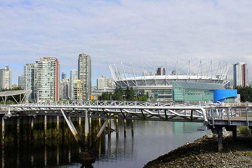 BC Place Stadium at False Creek Vancouver BC