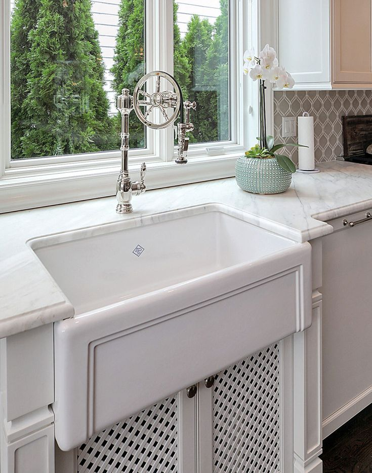 The Wheel On A Detailed Farm Sink. Kitchen Design By Rene Costabile Of Design  Line Part 60