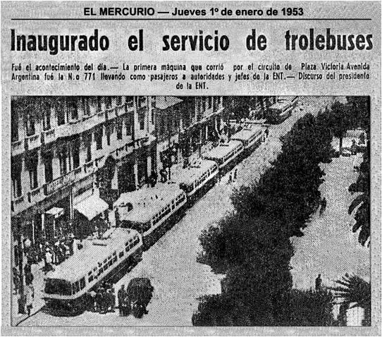 THE TROLLEYBUSES OF CHILE
