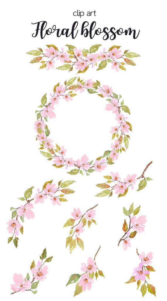 Floral Wreath Watercolor Printable